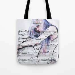 Waiting Place on sheet music Tote Bag