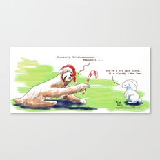 Sloth Christmas Canvas Print