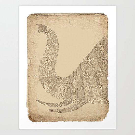 Elephant (On Paper) Art Print