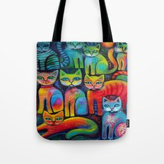 Colourful Kittens Tote Bag