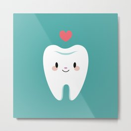 Happy teeth Metal Print