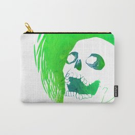 Scratchy Skull (Green) Carry-All Pouch