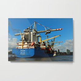 Container Ship Metal Print
