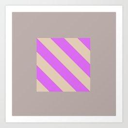 Fluorescent Semaphore Graphic Series Art Print