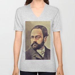 Emile Zola, Literary Legend Unisex V-Neck