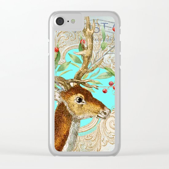 Winter animal #12 Clear iPhone Case
