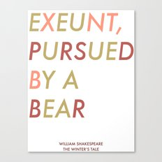 Shakespeare - The Winter's Tale - Exeunt Exit Pursued by a Bear Canvas Print
