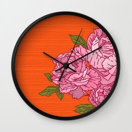 Bouquet of Peonies Wall Clock