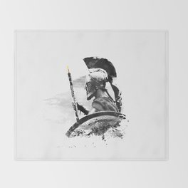 Oboe Warrior Throw Blanket