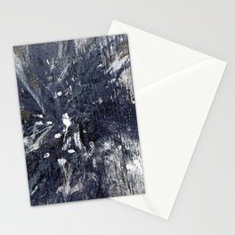 wood flower_blue Stationery Cards