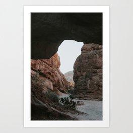 morning in a slot canyon Art Print