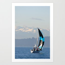 Sailing the Pacific Northwest Art Print