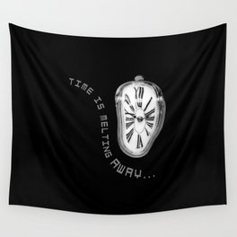 Salvador Dali Inspired Melting Clock. Time is melting away. Wall Tapestry