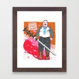 Steak in The Boot Framed Art Print