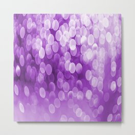 Bokeh Light Purple Tone #decor #society6 #buyart Metal Print