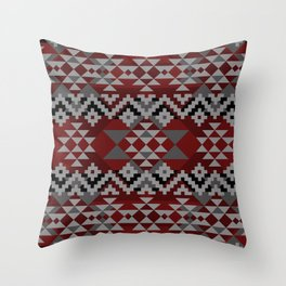 Red Aztec Throw Pillow