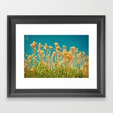 Blue & Gold & Green Framed Art Print