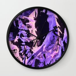 Ultraviolet mountains Wall Clock