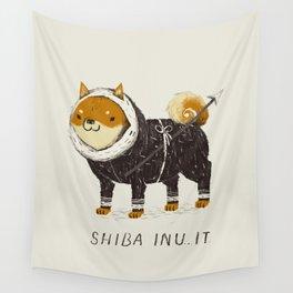 shiba inu-it Wall Tapestry