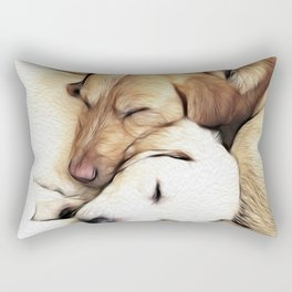 Let Sleeping Dogs Lie Rectangular Pillow