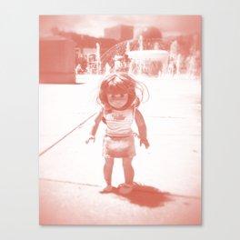 Hello (red) Canvas Print