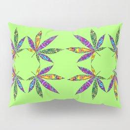 Patchwork Pot Leaves Pillow Sham