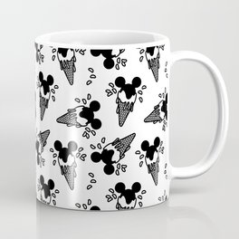 B&W Mickey Icecream Splash Pattern Coffee Mug