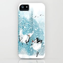Dancing in the snow iPhone Case