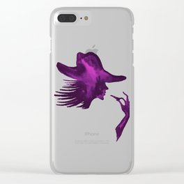 DIVA WITH HAT and Lipstick - PAINTED - Gorgeous VIOLET Clear iPhone Case