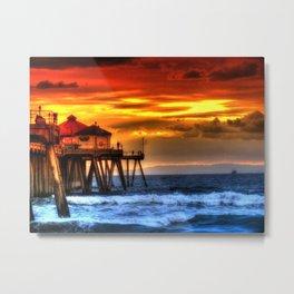 Northside Huntington Beach Pier Metal Print