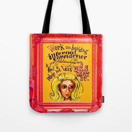 Relationship: Pink & Orange  Tote Bag