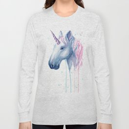 Blue Pink Unicorn Long Sleeve T-shirt