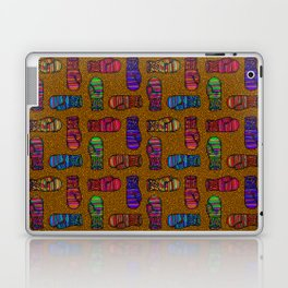 COLORFUL MITTENS ON MUSTARD YELLOW Laptop & iPad Skin