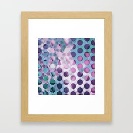 Circles on Triangles Lavenders Blues Framed Art Print