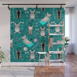 Fitness for cats Wall Mural
