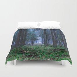 Green Magic Forest - Landscape Nature Photography Duvet Cover