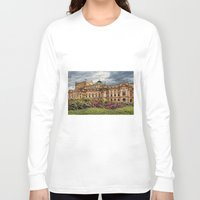 theatre Long Sleeve T-shirts featuring Slowacki Theatre in Cracow by jbjart