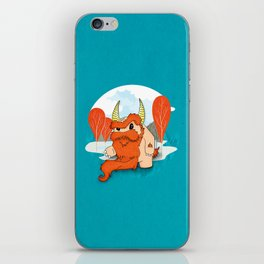 Graggy, the plump Happy Chaos Monster of Scotland iPhone Skin