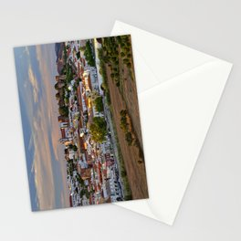 Silves in evening light, Portugal Stationery Cards