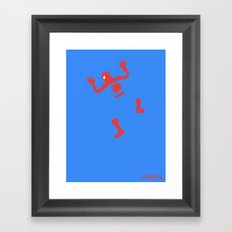 Does Whatever A Spider Can Framed Art Print