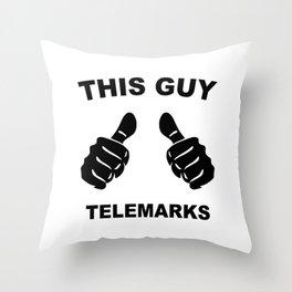This Guy Telemarks Throw Pillow
