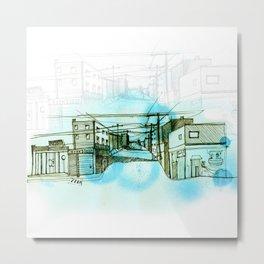 Street sketch Metal Print