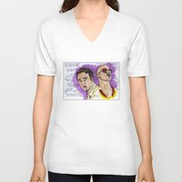 brad pitt V-neck T-shirts featuring Tyler Durden - Ed Norton - Brad Pitt - Quotes by Matty723