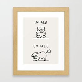 Inhale Exhale English Bulldog Framed Art Print