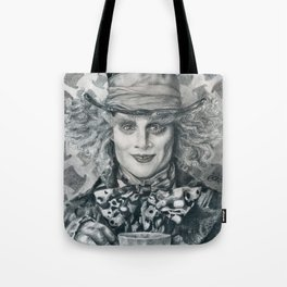 Mad Hatter - Johnny Depp Traditional Portrait Print Tote Bag