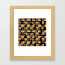 Wooden Chessboard and Chess Pieces  pattern Framed Art Print