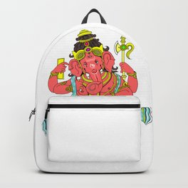 Ganesh, Ganesha the Hindu deity traditional painting Backpack