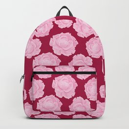 LOVE. Pink Roses. Backpack