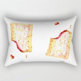 Watercolor Strawberry Pop Tart Rectangular Pillow