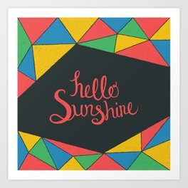 Hello Sunshine - Dark Art Print